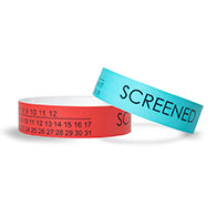 Medical Screened Calendar Tyvek Wristbands