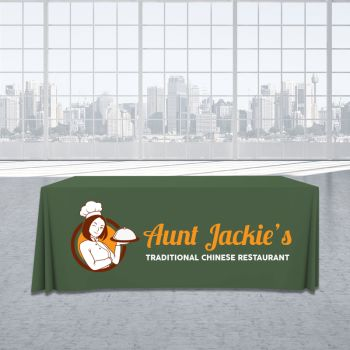 4FT Trade Show Table Cover - Full Color Imprint