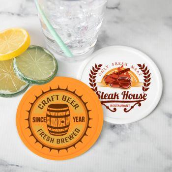 4 Inch Custom Silicone Drink Coasters