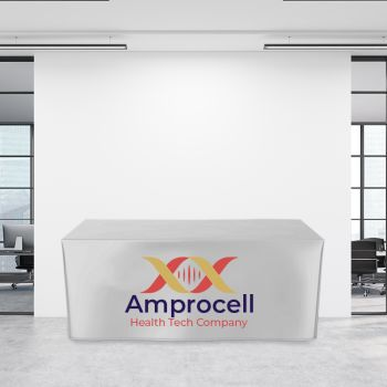 6FT Fitted Trade Show Table Cover - Full Color Imprint