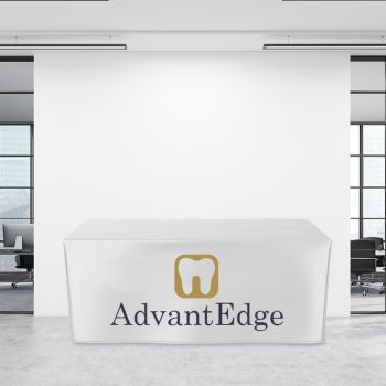 8FT Trade Show Fitted Table Cover - Full Color Imprint