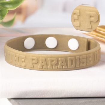 Embossed Silicone Adjustable  Wristbands