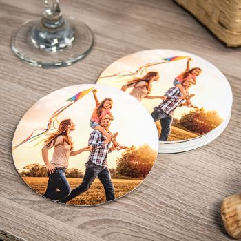 "Paper Coasters - 4"" Round"