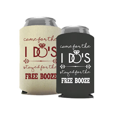 Custom Wedding Koozies - Custom Made Wedding Party Favor - Wedding Favor Personalized